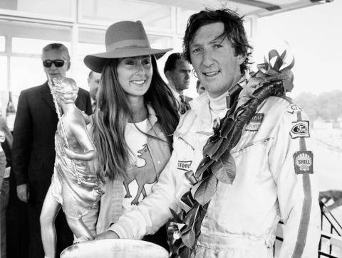 Rennfahrer Jochen Rindt und seine Frau Nina