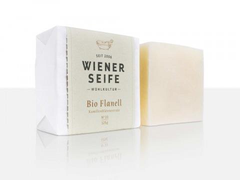 Block Wiener Seife, mit Verpackung und ohne