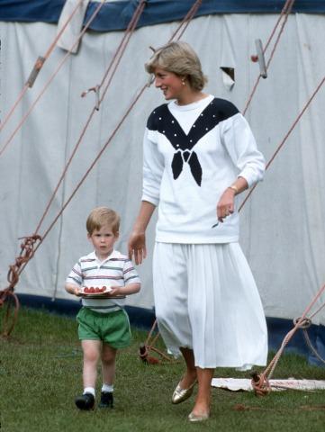 Prince Harry Princess Diana at Guards polo club