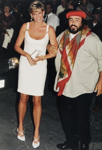 Prinzessin Diana und Luciano Pavarotti