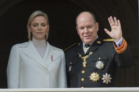 Albert von Monaco und Charlene   Credit: viennareport.at