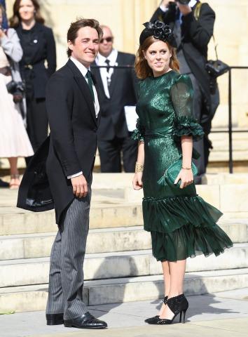 Prinzessin Beatrice und Edoardo Mapello Mozzi bei Elli Gouldings Hochzeit