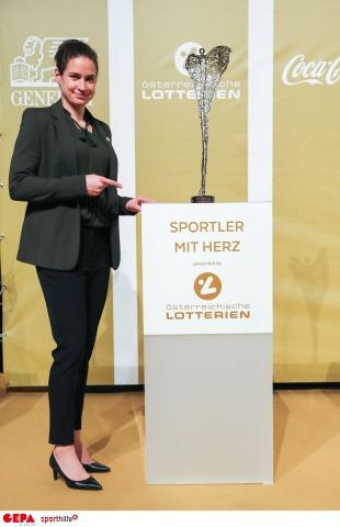 Sportlerin mit Herz: Nina Burger siegte mit ihrer Kicker-Initiative.