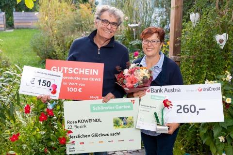 Sieger mit dem Preis für den schönsten Garten