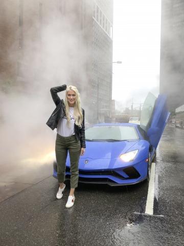 Supercar Blondie Lamborghini Aventador S   Credit: supercarblondie