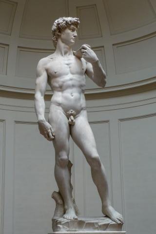 Skulptur David von Michelangelo