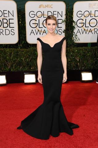 Emma Roberts bei den 71st Golden Globe Awards | Credit: Sara De Boer/Action Press/picturedesk.com