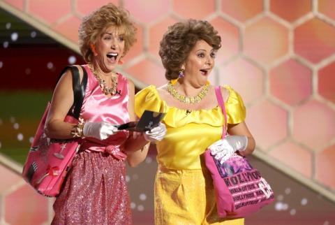 Kristen Wiig und Annie Mumolo sorgen bei der Golden Globes Gala 2021 für Stimmung | Credit: RICH POLK / AFP / picturedesk.com