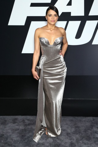 Michelle Rodriguez THE FATE OF THE FURIOUS Premiere