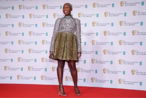 Auch Cynthia Erivo genoss die BAFTA Film Awards Gala sichtlich | Credit: Alberto Pezzali / AP / picturedesk.com