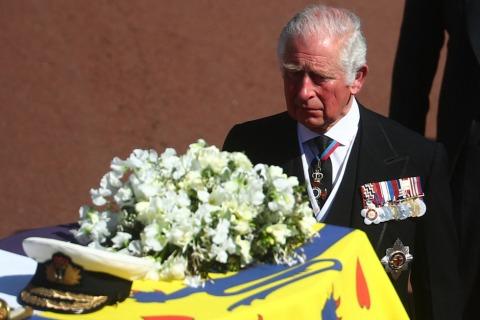 Prinz Charles an der Spitze des Trauerzugs | Credit: HANNAH MCKAY / AFP / picturedesk.com