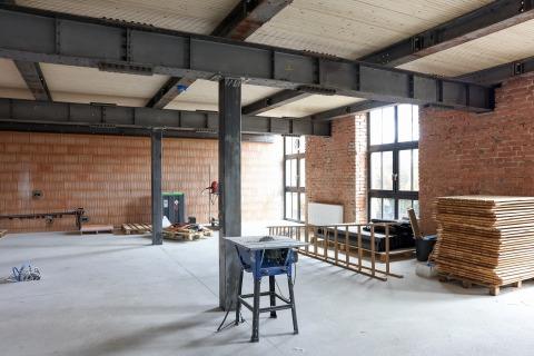 Raum mit Baustellencharakter
