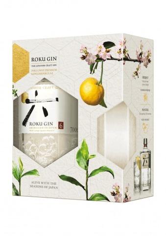Roku Gin in Geschenkpackung mit Longdrinkglas