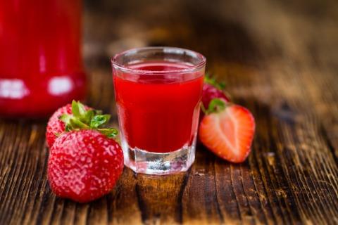 Erdbeerlimes Shot