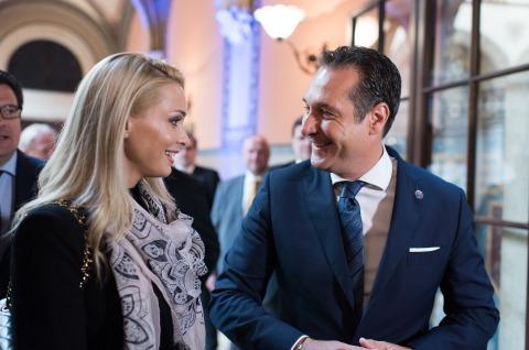 Philippa Beck mit zukünftigem Ehemann HC Strache