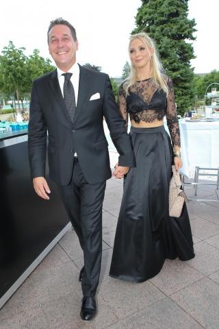 Philippa mit Ehemann HC Strache