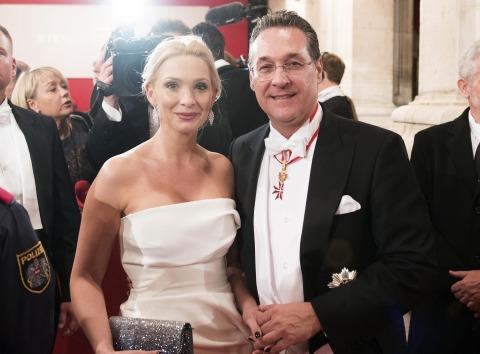 Hans Christian und Philippa Strache