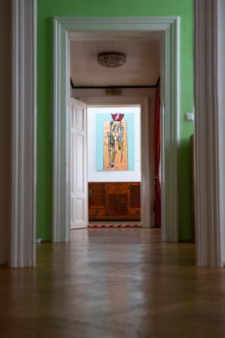 Elegantes Altbau-Ambiente in der Galerie