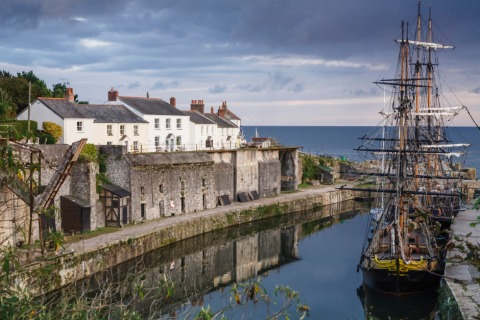 Charlestown Harbour in Cornwall | Credit: iStock.com/PaulMaguire