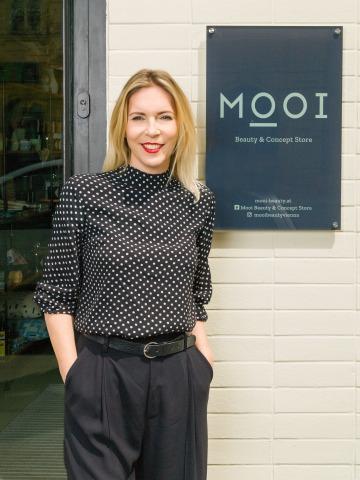 Porträt der Mooi Beauty & Concept Store- Gründerin Petra Mair
