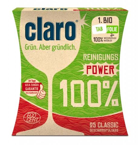 Geschirrspültabs Reinigungs-Power 100% von claro   Credit: claro products GmbH