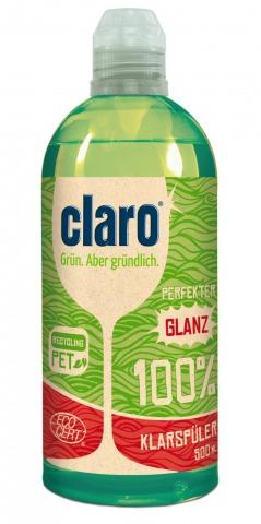 Klarspüler Glanz 100% von claro   Credit: claro products GmbH