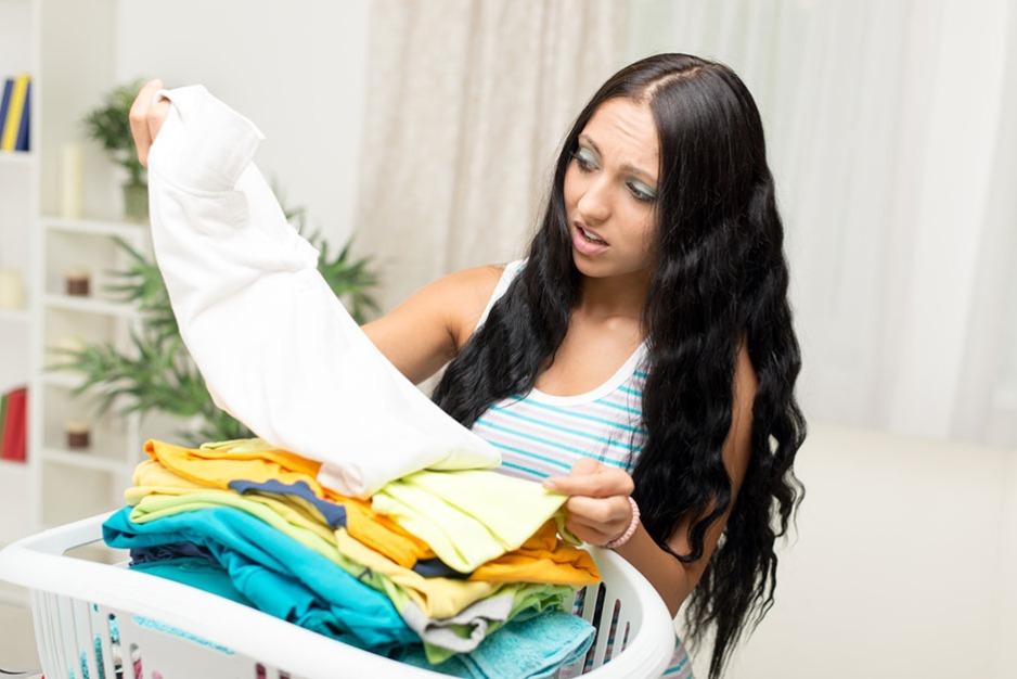 Eingelaufene Wäsche