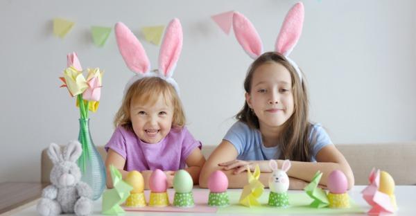 Corona: Zuhause statt Kindergarten. Tag 24: Osterkarte für Oma und Opa