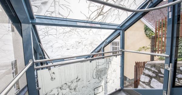 Kunstprojekt in der Schloßbergbahn