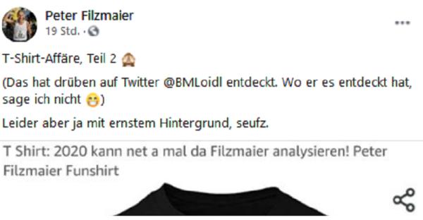 Netzfundstück: Rätsel um Filzmaier-Shirt