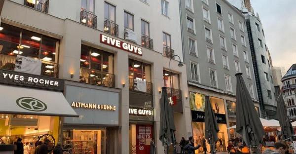 Five Guys-Filiale am Wiener Graben