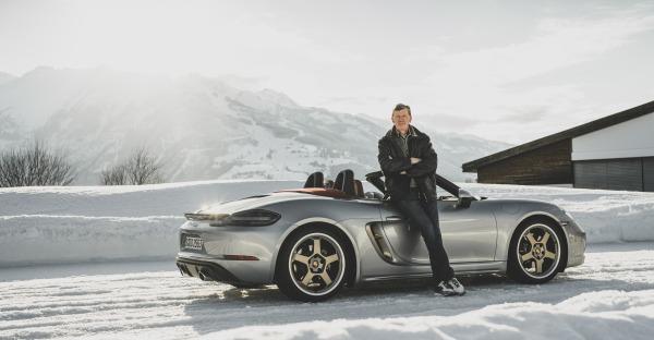 Porsche Boxster 25 Jahre: Driften mit Walter Röhrl und Aksel Lund Svindal