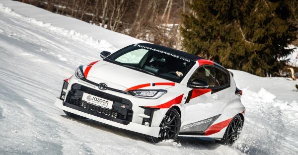 Mit dem Toyota Yaris GR im Schnee - Schee!