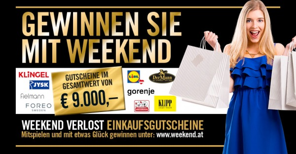 Gutscheine im Gesamtwert von EUR 9.000,- gewinnen!