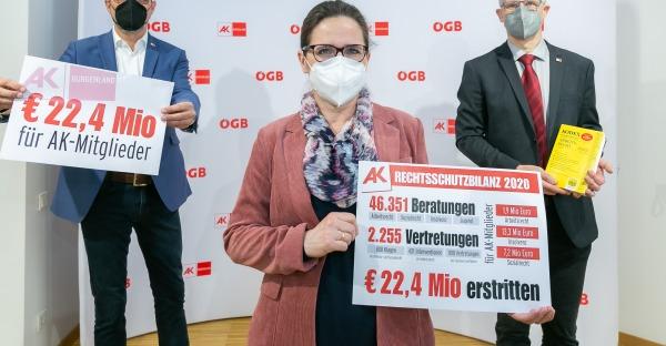 22,4 Millionen Euro für AK-Mitglieder herausgeholt