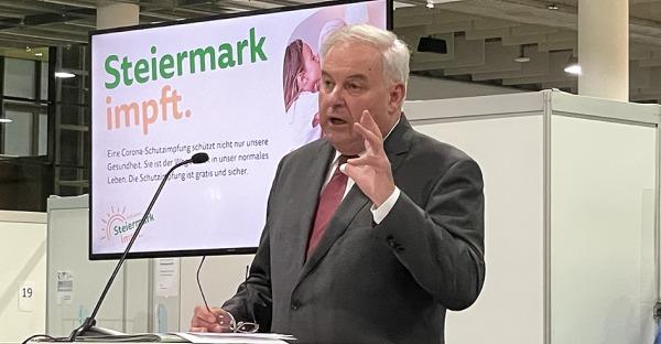 """""""Wir sinken"""": LH Schützenhöfer präsentiert """"Die Steiermark öffnet"""""""