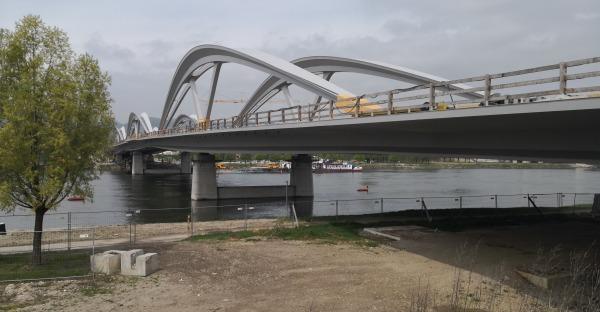 Neue Eisenbahnbrücke Linz - Baufortschritt, Bildergalerie, Zeitplan