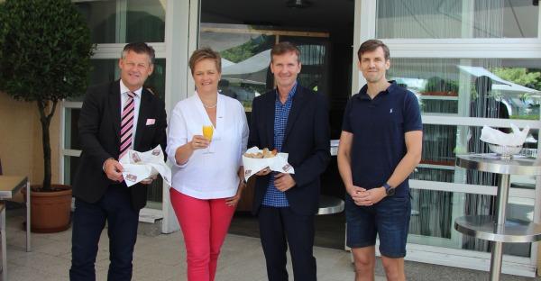 Business-Frühstück in der Gastronomie des Klagenfurter Strandbades