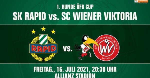 1. Runde ÖFB-Cup: Rapid trifft auf Wiener Viktoria
