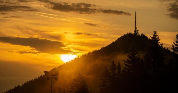 Sonnenaufgang am Semmering