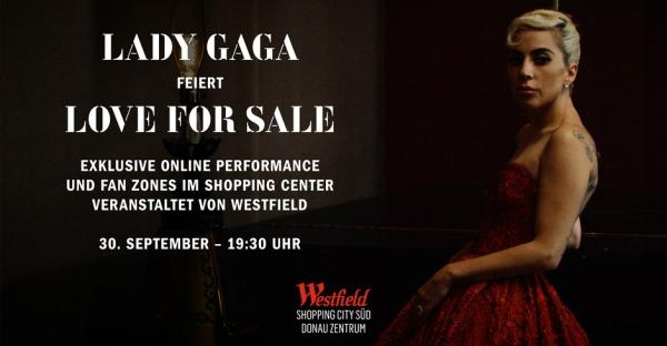 """Exklusives Event im Shopping Center: Lady Gaga feiert """"Love For Sale"""""""
