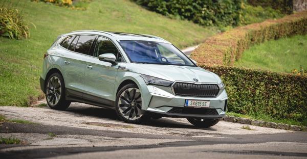 Test: Škoda Enyaq iV - Strom Aufwärts