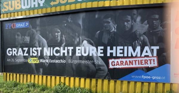 Auf Kickls Spuren: Grazer FPÖ schockt mit Plakaten