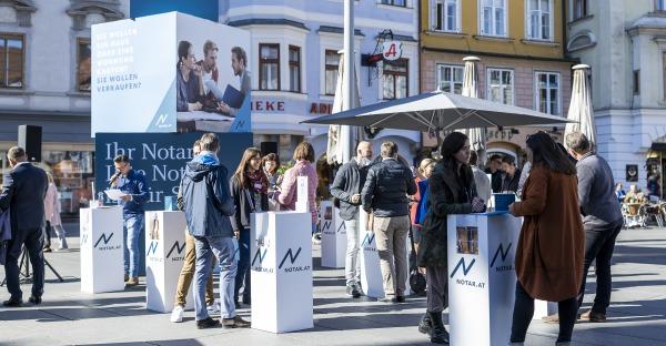 """Hunderte Interessenten bei Aktion """"Rat vom Notar"""" in Graz"""